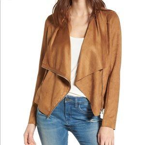 Blank NYC Faux Suede Drape Jacket